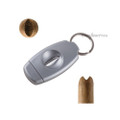 XiKAR VX V-Cut Keychain Cigar Cutter Gunmetal 156SL
