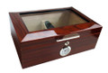 Morello Cherry Finish Humidor - Holds 100 Cigars