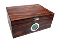 Brawley Macassar Finish Humidor - Holds 75 Cigars