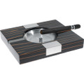 Solid Ebony 2 Cigar Ashtray