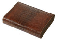Crocodile Leather Brown Finish 10 ct. Travel Humidor