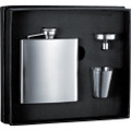 Stainless Steel Liquor Flask Gift Set - 6 oz.