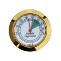 Analog Round Hygrometer Brass Finish Glass Front