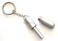 Silver Cigar Punch Plug Cutter w/ Keychain