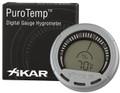 XiKAR 834XI PuroTemp Digital Hygrometer Thermometer Silver