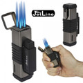 JetLine New York Lighter Quad Flame Gunmetal
