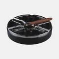"XIKAR Burnout 6  Cigar Ashtray G2 Gunmetal 10"" Weather Resistant"