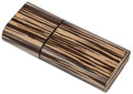 Zebrawood 3 Finger Cigar Case