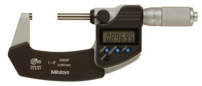"ASDQMS Mitutoyo 293-336 IP65 Coolant Proof Micrometer - 1-2"" Range, Friction Thimble"