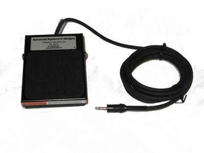 """ASDQMS Industrial Footswitch with .140"""" dia phone plug"""