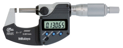 ASDQMS Mitutoyo 293-330-30 Coolant Proof IP65 Micrometer with Ratchet Stop