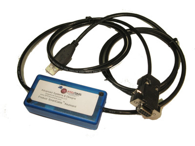 ASDQMS SmartCable with Keyboard Output for Vacuubrand PC3001 VarioPro Vacuum Pump