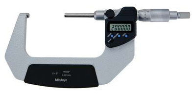 "ASDQMS Mitutoyo 406-352-30 IP65 Non-Rotating Spindle Micrometer; 2-3"" Range"