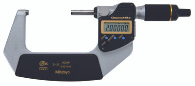 ASDQMS Mitutoyo 293-182-30 QuantuMike Coolant Proof Micrometer