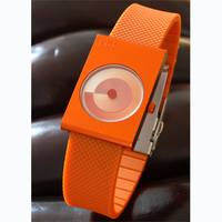 itoc handless timepiece - orange case / orange strap