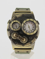 Verne - Steampunk Travel (Dual Time Zone) Watch