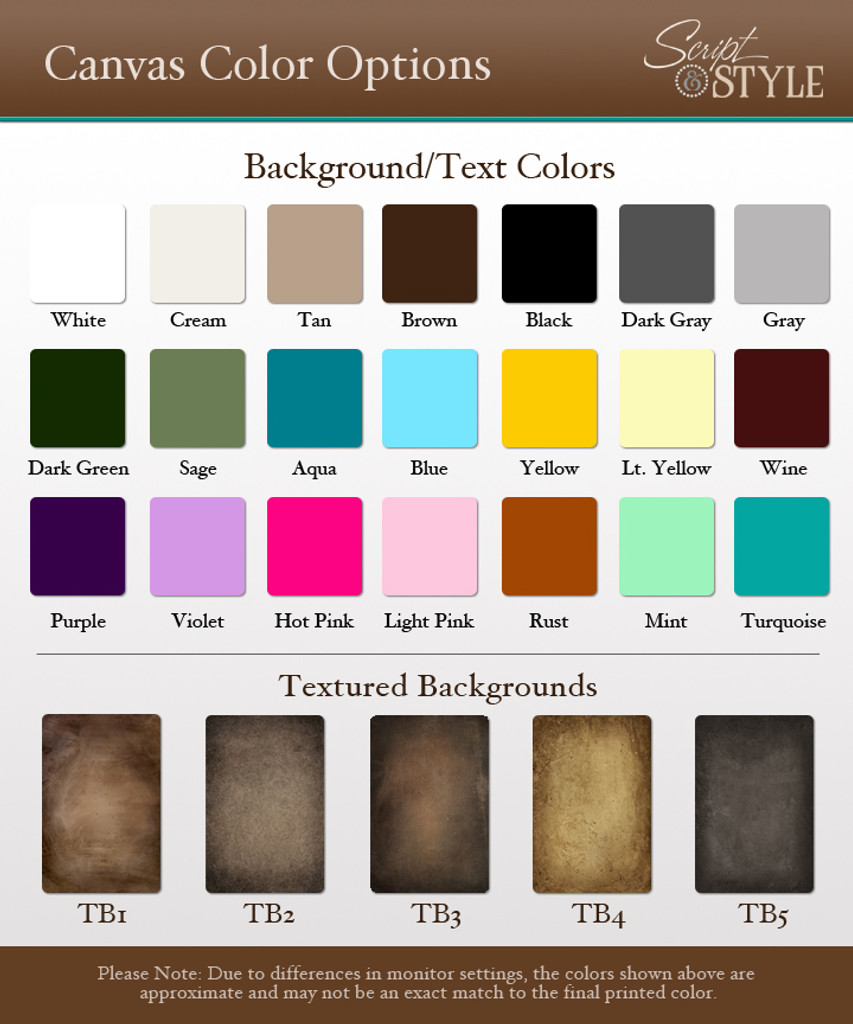 Background & Text color options