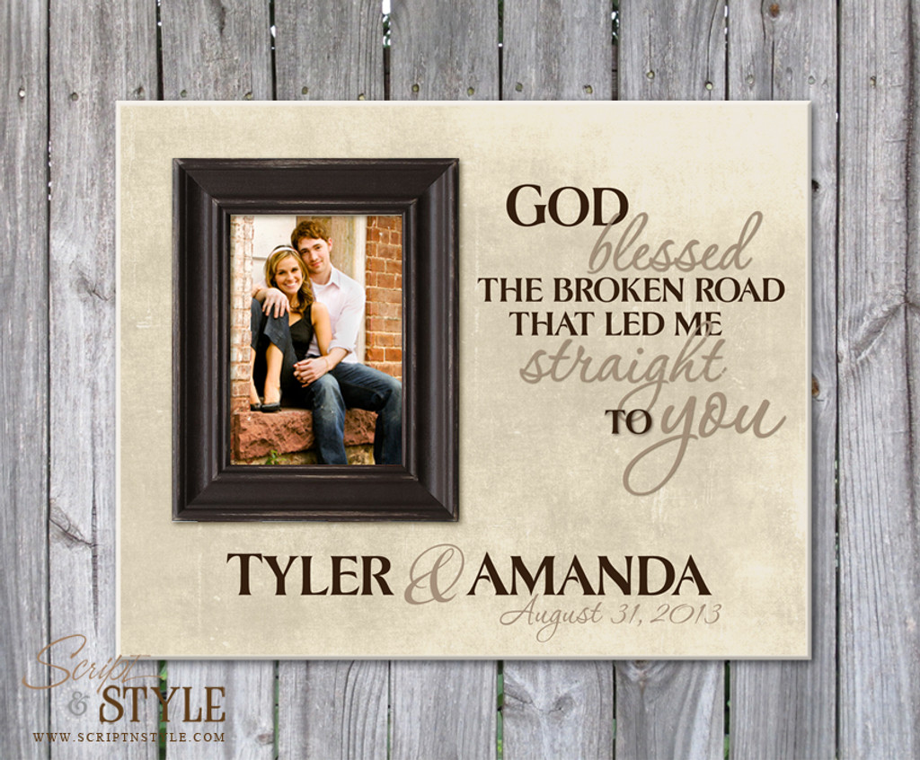 Personalized Picture Frame With Family Name And Quote
