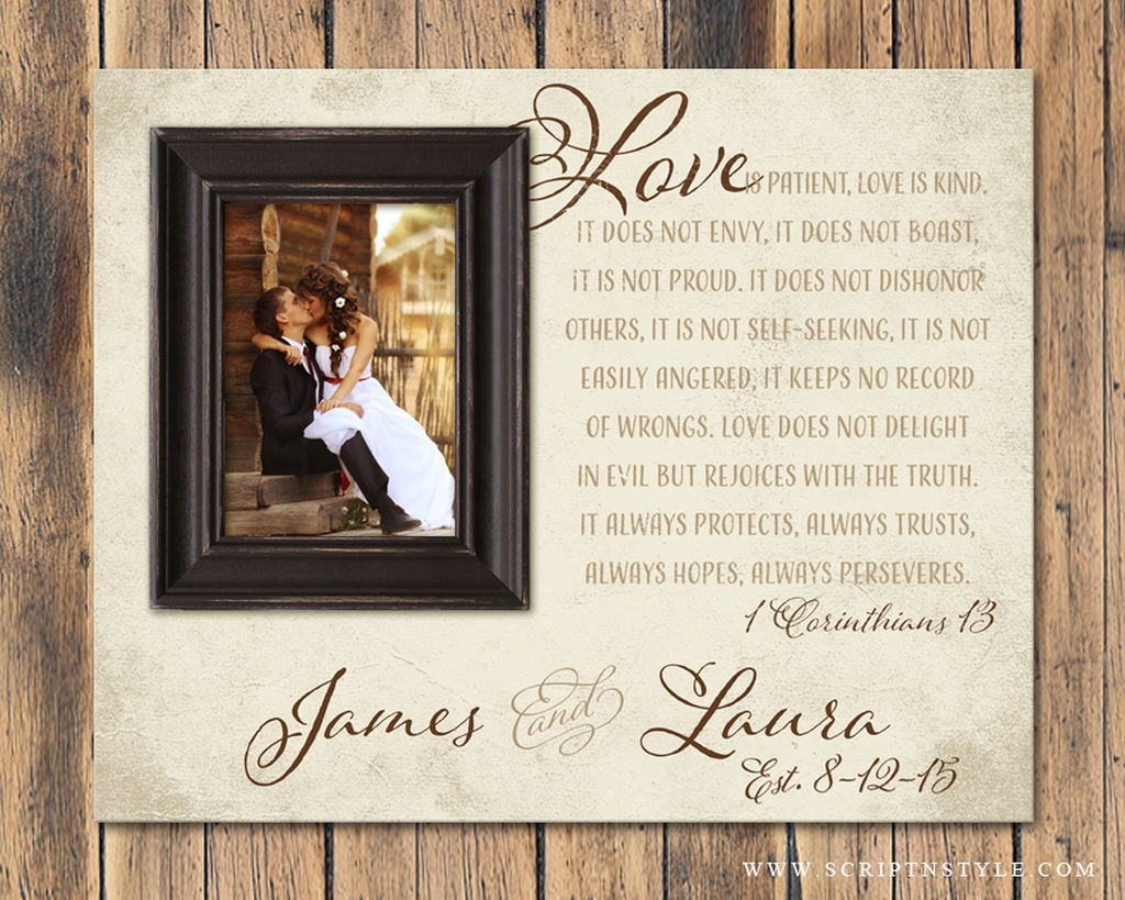 Personalized Picture Frame 1 Corinthians 13