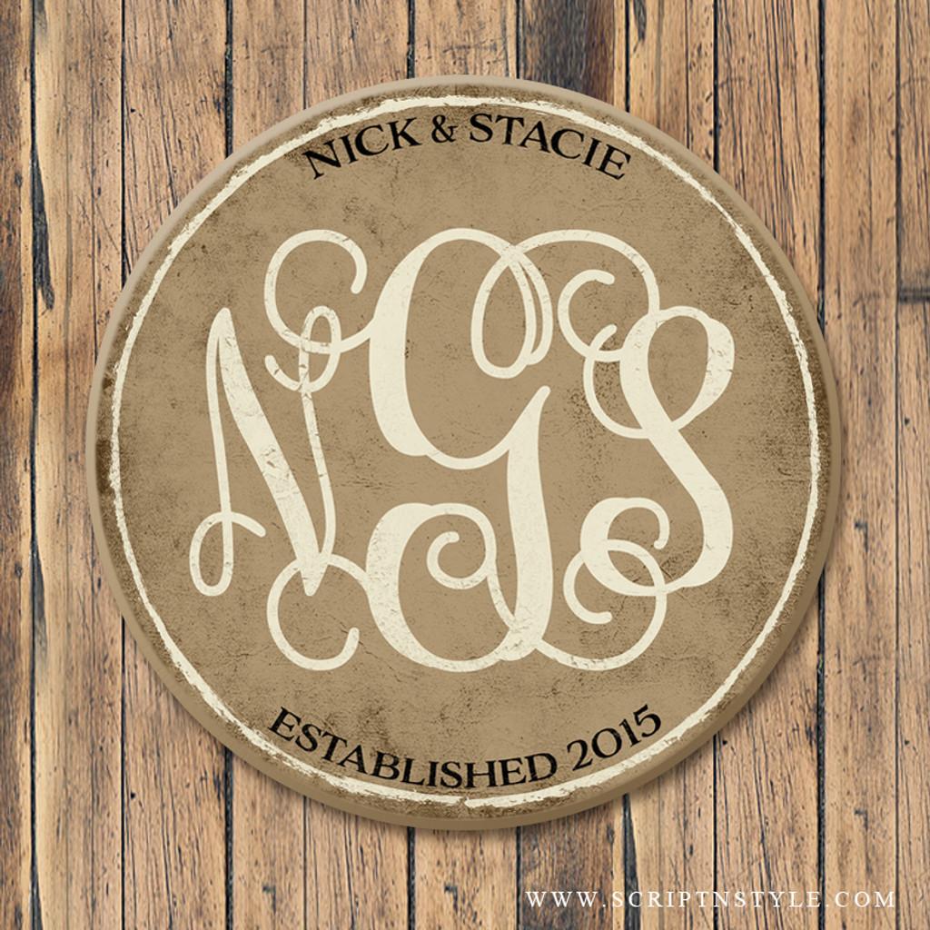 Wood Family Monogram Sign