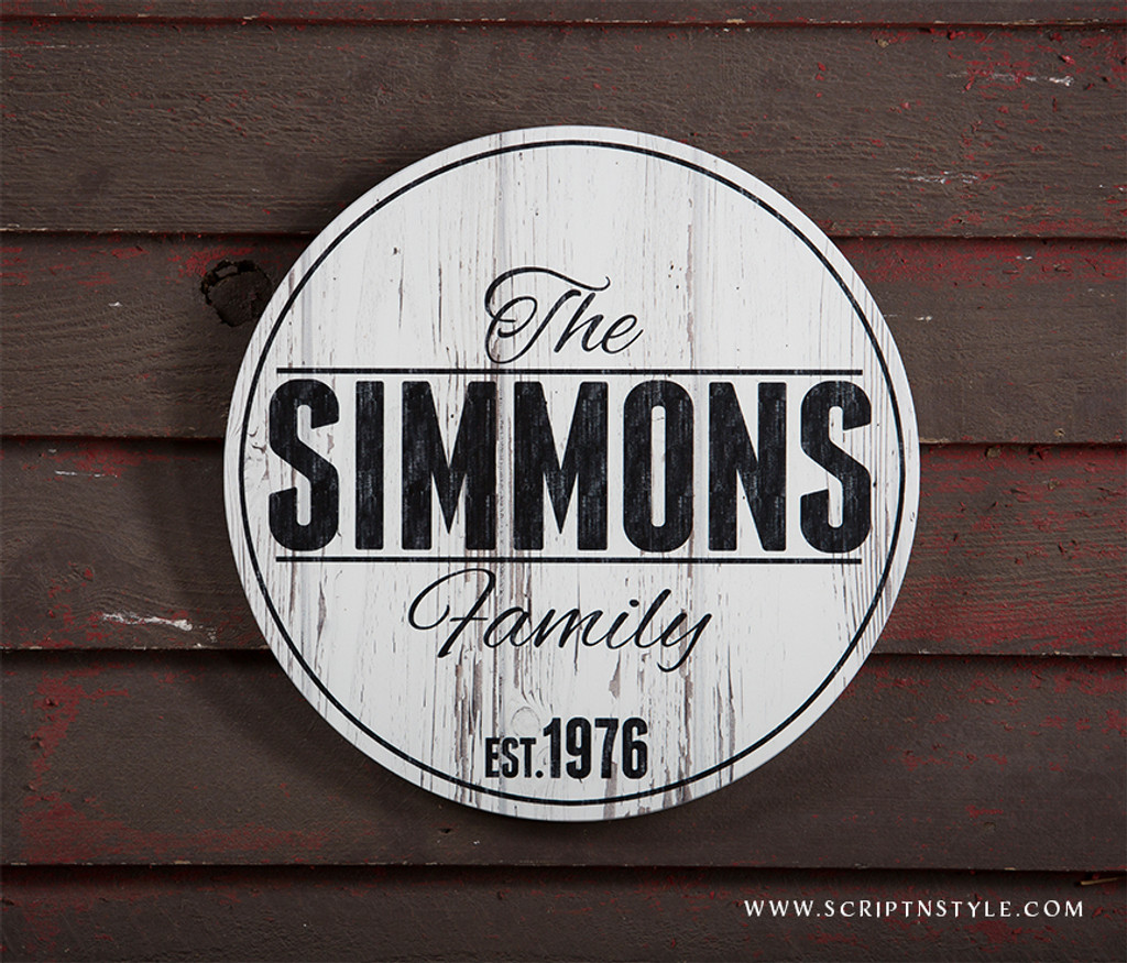 Family name wood sign