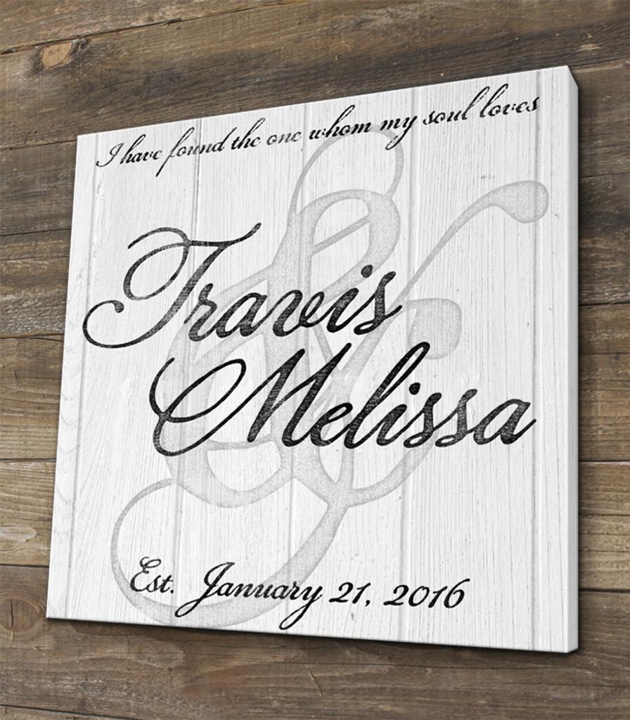 family name wedding sign