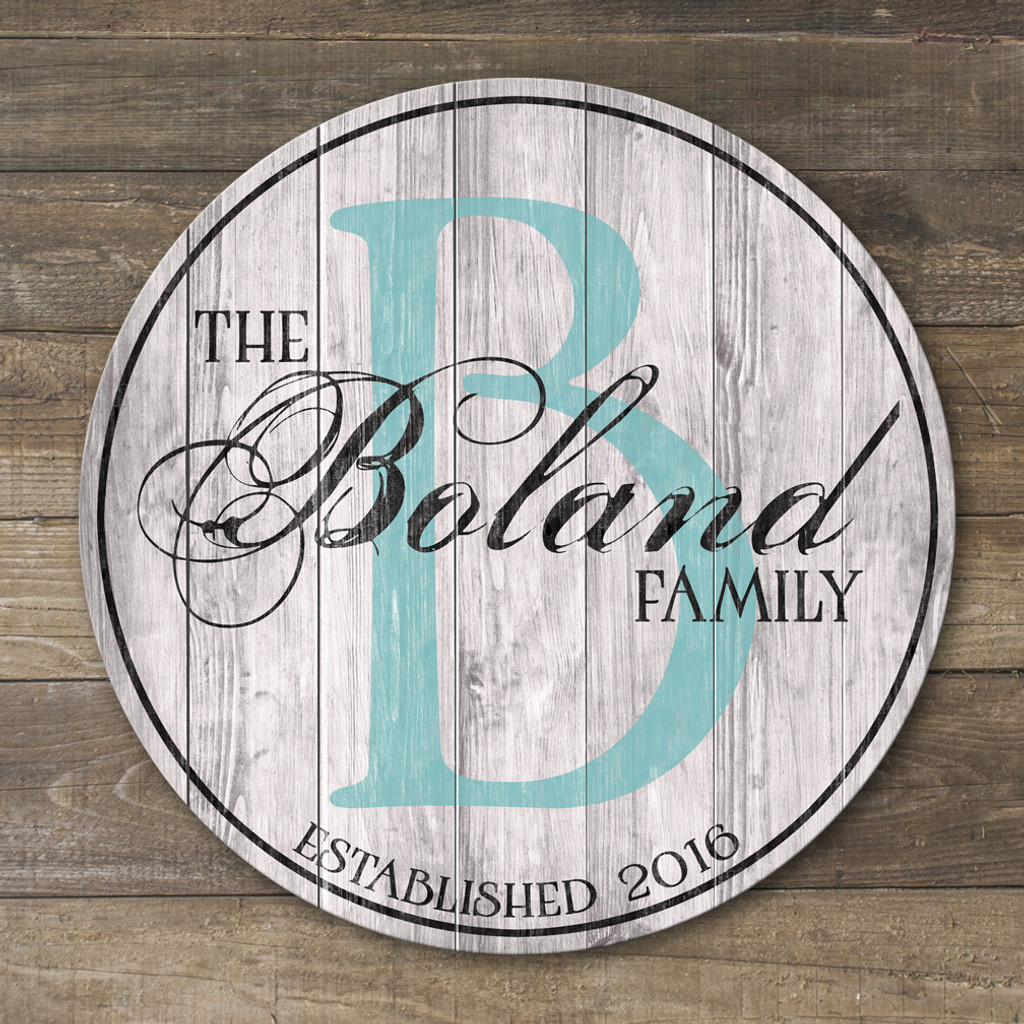 wood family sign