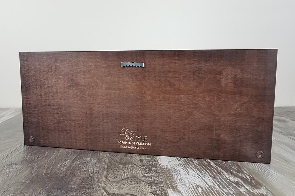 wood established sign
