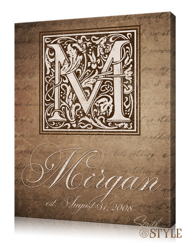 Family Name Wall Art personalized last name canvas wall art - script and style