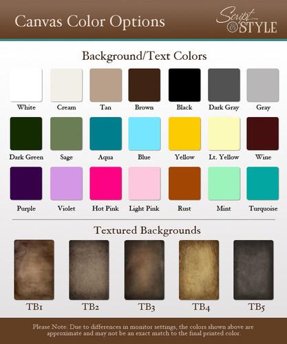 Canvas color options