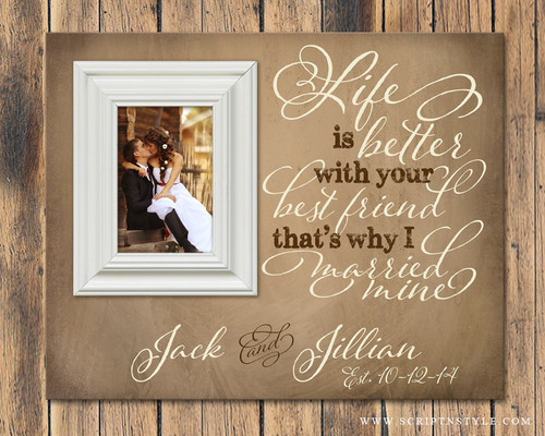 personalized picture frame with quote