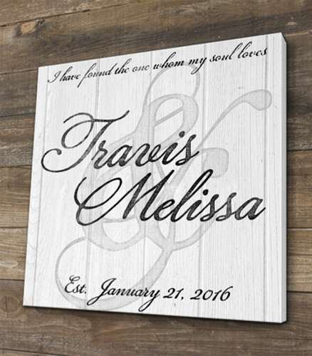 family name wedding sign