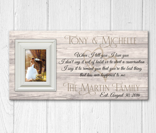 Personalized Wood Picture Frame I Love You