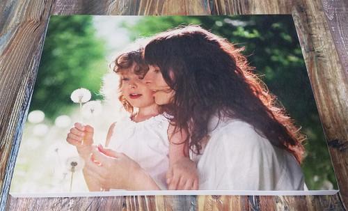 Photograph printed on wood