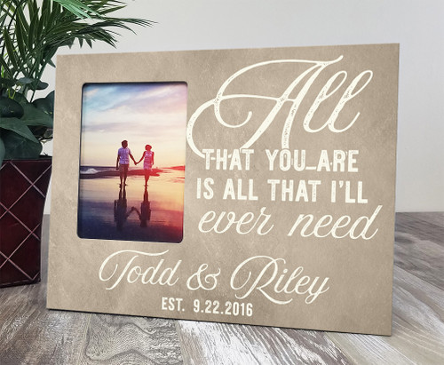 Personalized wood picture frame