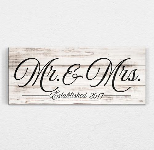 wood wedding sign