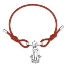 Metal CZ Movable Hamsa Bracelet