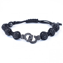 Cuffs of Love ♥ Shamballa Black CZ Bracelet