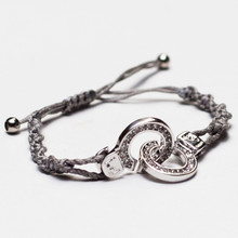 Cuffs of Love ♥ Handcuff Bracelet Large CZ