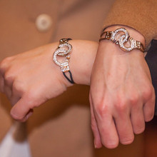 Cuffs of Love ♥ Handcuff Bracelet XLarge CZ