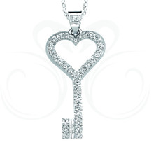 Key to My Heart Pendant Large