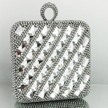 Square Swarovski Clutch