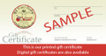$25 Printed Gift Certificate