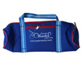 Martel Nylon #50 - 4 Ball Long Bag - Dark Blue with Lt Blue Handle/Red Trim