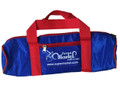 Martel Nylon #50 - 4 Ball Long Bag - Blue with Red Handle/Red Trim