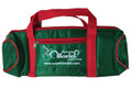 Nylon #50 - 4 Ball Long Bag - Green with Red Handle/Red Trim