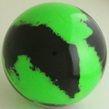 DEA3 -  Fluorescent green  | Black - Set of four.