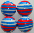 Martel V.I.P. PLUS TRIS - lt.Italy blue, white, red fluo - Set of four.