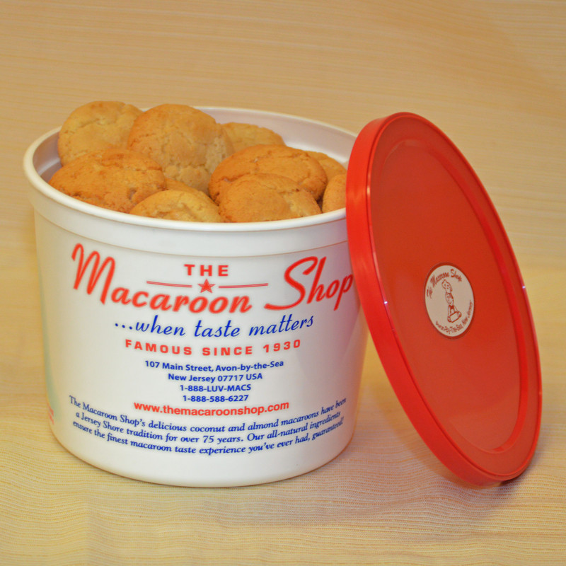 Gourmet Almond Macaroons 1 lb Tubs - They are fresh and ready to enjoy!