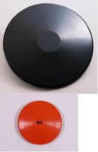 Black is outdoor discus.  Orange/brown is indoor discus.